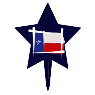Texas Brush Flag Cake Picks