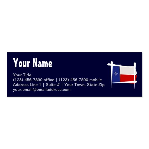 Texas Brush Flag Double-Sided Mini Business Cards (Pack Of 20)