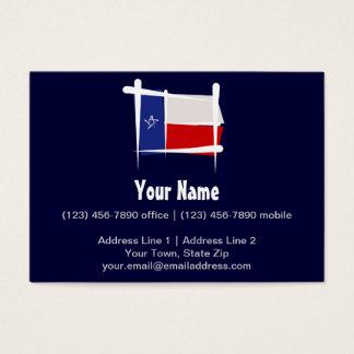Texas Brush Flag Large Business Card