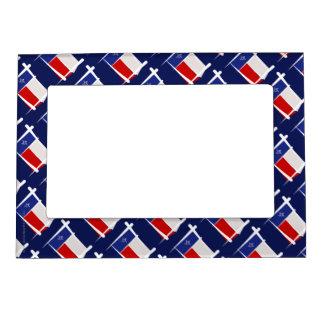 Texas Brush Flag Picture Frame Magnets