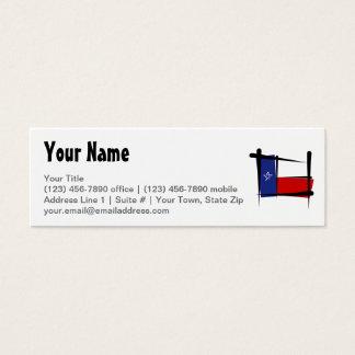 Texas Brush Flag Mini Business Card