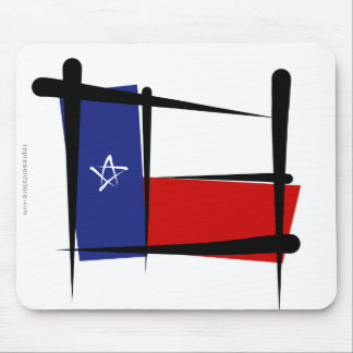 Texas Brush Flag Mouse Pad