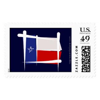 Texas Brush Flag Stamp