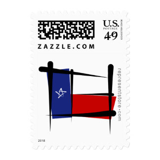 Texas Brush Flag Stamps