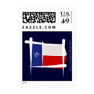 Texas Brush Flag Postage Stamps