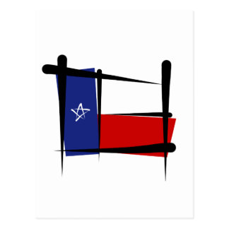 Texas Brush Flag Postcard