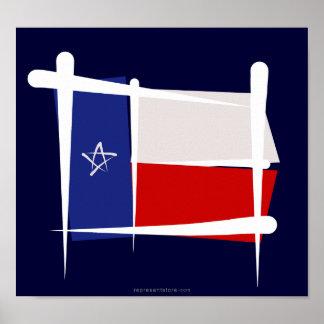 Texas Brush Flag Posters