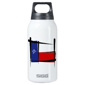 Texas Brush Flag Thermos Water Bottle