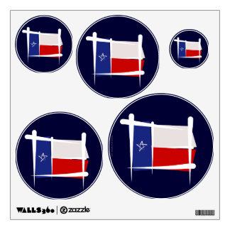 Texas Brush Flag Wall Sticker