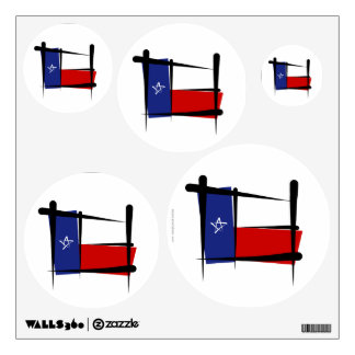 Texas Brush Flag Wall Decals