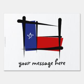 Texas Brush Flag Yard Sign