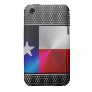 Texas brushed metal flag iPhone 3 Case-Mate cases