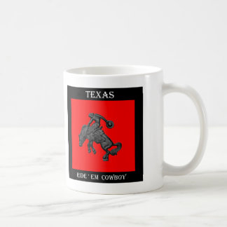 Texas Bucking Horse Cowboy .jpg Coffee Mug