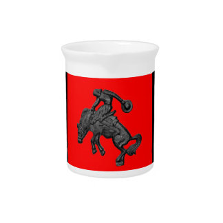 Texas Bucking Horse Cowboy .jpg Drink Pitcher