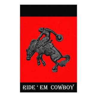 Texas Bucking Horse Cowboy .jpg Stationery