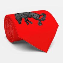 Texas Bucking Horse Cowboy .jpg Tie