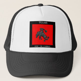 Texas Bucking Horse Cowboy .jpg Trucker Hat
