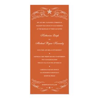 Texas Burnt Orange Lone Star Wedding Invitations
