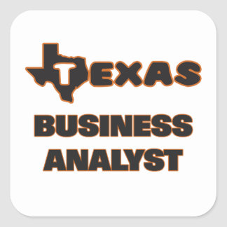 Texas Business Analyst Square Sticker
