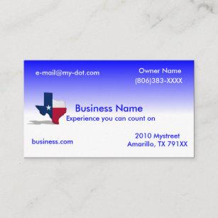 Texas business cards templates zazzle texas business card colourmoves