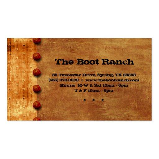 Texas Business Card Rust Denim Jean Star