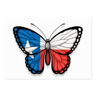 Texas Butterfly Flag Business Card Template