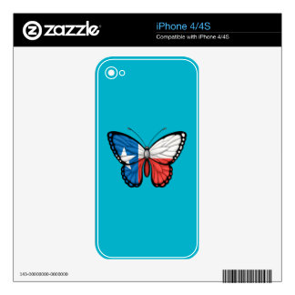 Texas Butterfly Flag iPhone 4 Decals