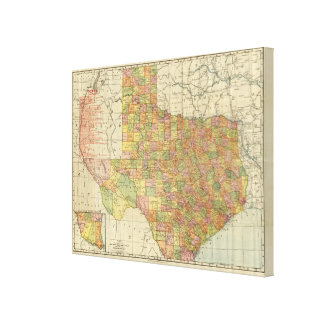 Texas by Rand McNally Canvas Print