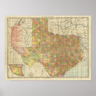 Texas by Rand McNally Poster