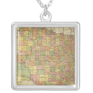 Texas by Rand McNally Square Pendant Necklace