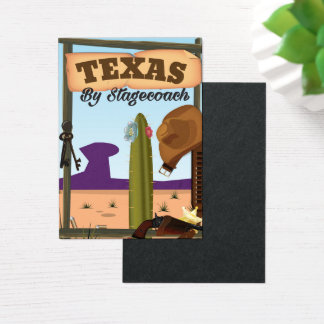 Texas By Stagecoach Business Card