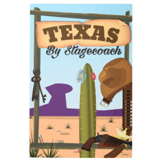 Texas By Stagecoach Metal Photo Print