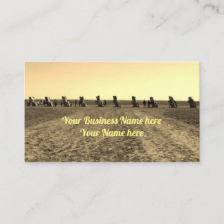 Texas Cadillac Ranch Business Cards