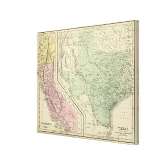 Texas, California Stretched Canvas Prints