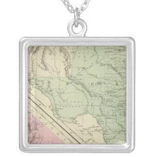 Texas, California Silver Plated Necklace