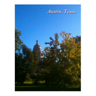 Texas Capitol with Trees Postcard