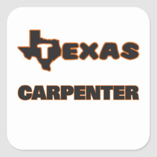 Texas Carpenter Square Sticker