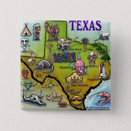 TEXAS Cartoon Map Button