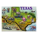 TEXAS Cartoon Map Cards