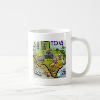 TEXAS Cartoon Map Coffee Mug