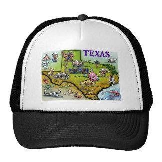 TEXAS Cartoon Map Trucker Hat