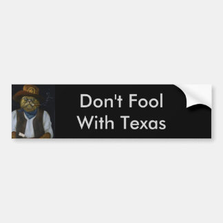 Texas Cat with an Attitude Bumper Sticker
