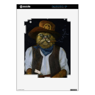 Texas Cat with an Attitude Decals For The iPad 2