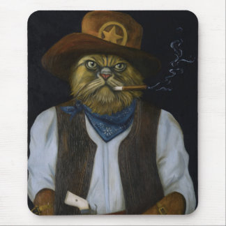 Texas Cat with an Attitude Mouse Pad