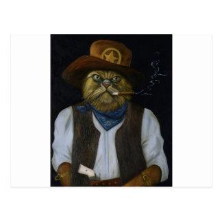 Texas Cat with an Attitude Postcard