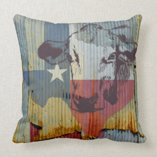 Texas Cattle Ranch House throw pillow