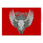 Texas Cattle Skull ~ Customize Gift Template Stationery Note Card