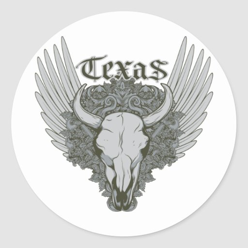 Texas Cattle Skull ~ Customize Gift Template Classic Round Sticker
