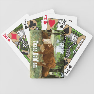 Texas Cattle-Texas Hold'em Bicycle Playing Cards