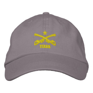 Texas Cavalry (Embroidered) Embroidered Baseball Caps